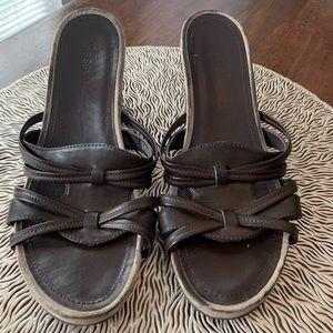 Bass 9M Wedged Sandals